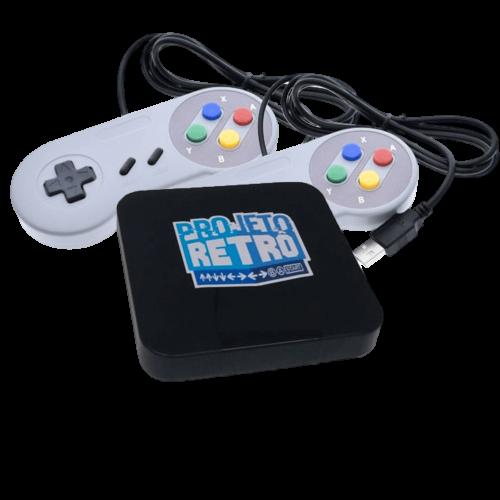 Box Retro 10 Mil Jogos + 2 Controles USB SNES