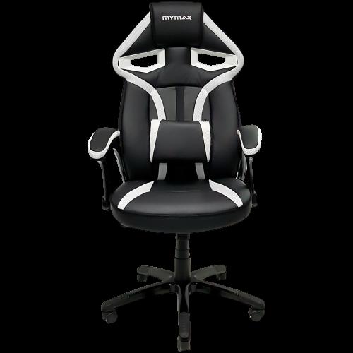 Cadeira Gamer MX1 Giratória Preto/Branco MyMax