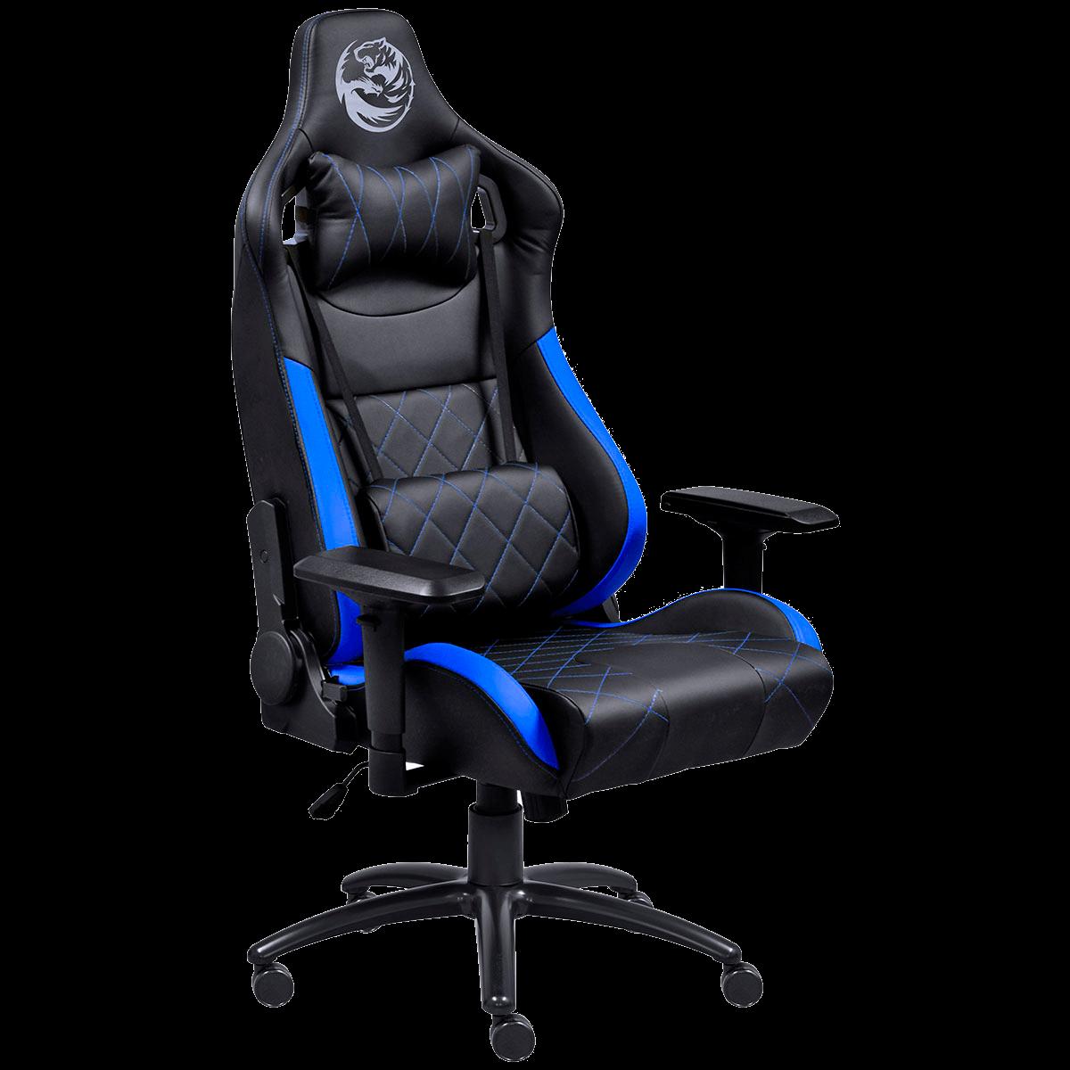 Cadeira Gamer PCYes Mad Racer V10, Azul e Preta MADV10AZGL PCYES