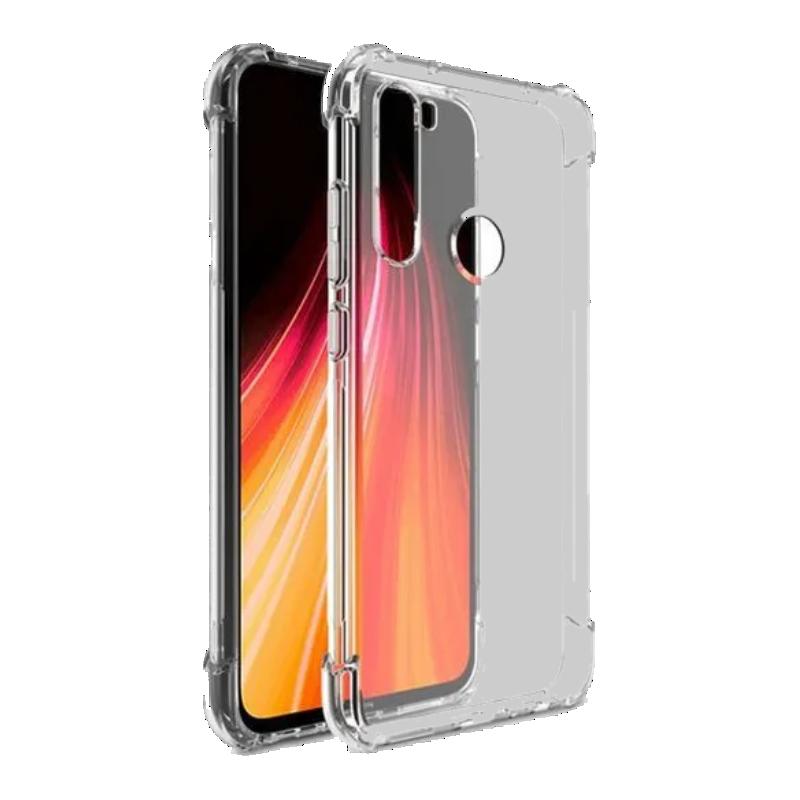 Capinha Anti-Impacto para Xiaomi Redmi Note 8 e Note 8T Capa transparente com proteção de cantos