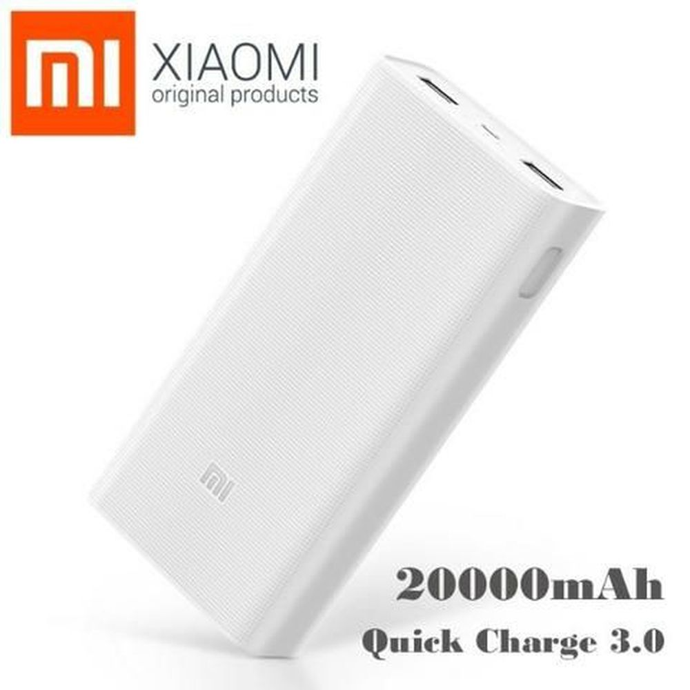 Carregador Portatil, Xiaomi, 20000mah, Branco