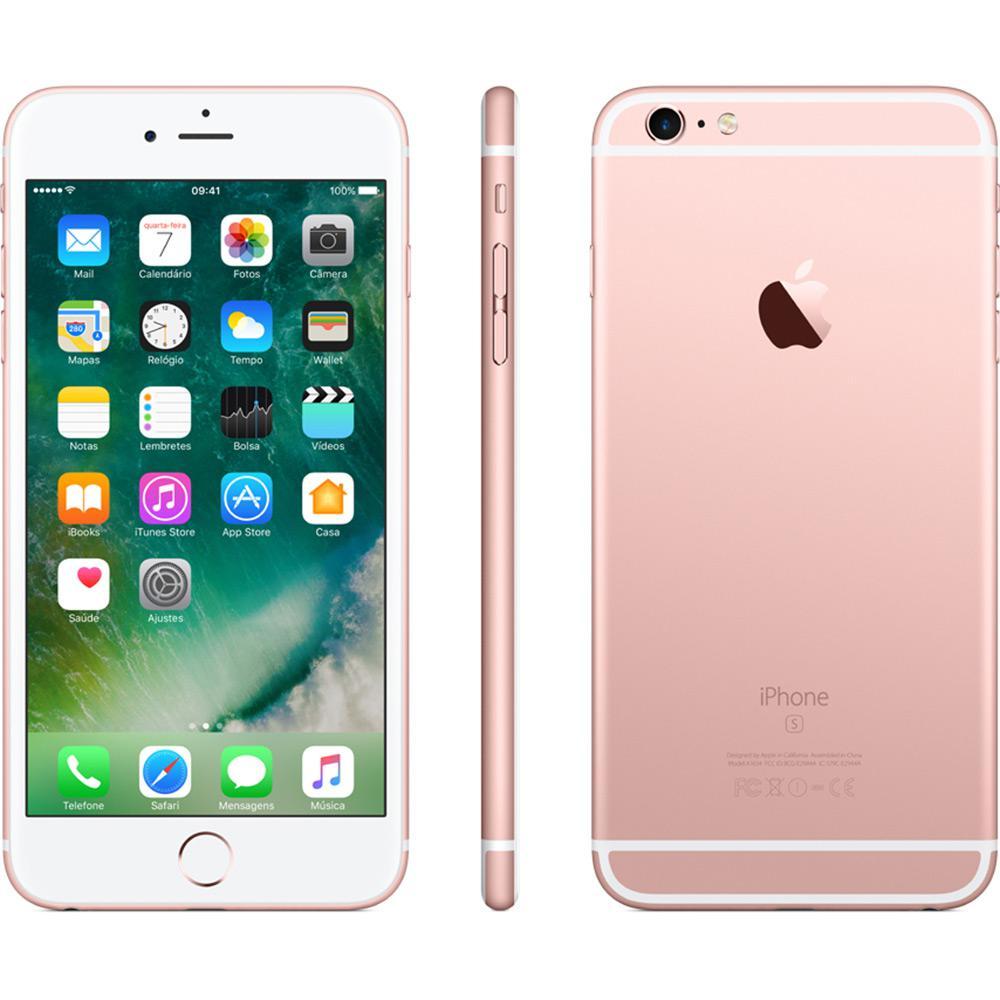 """CELULAR APPLE IPHONE 6S PLUS 1687 BZ 32GB / 4G / TELA 5.5"""" / CÂMERAS 12MP E 5MP - ROSA PINK"""