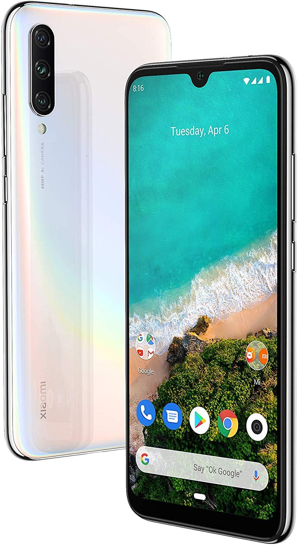 """Celular Xiaomi Mi A3 64gb / 4g / Dual Sim / Tela 6.08"""" / Câmeras 48mp + 8mp + 2mp E 32mp - BRANCO"""