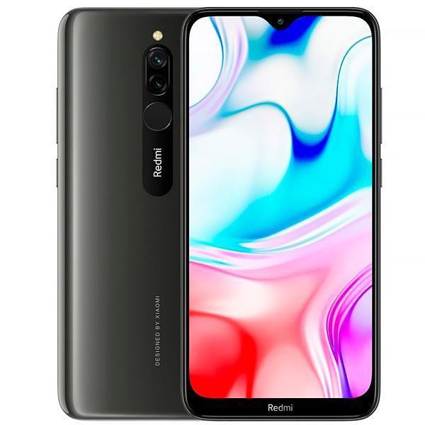 Celular xiaomi redmi 8 32GB / Memória RAM 3GB / Dual Sim / Tela 6.22'' / Câmeras 12mp + 2mp e 8mp - preto