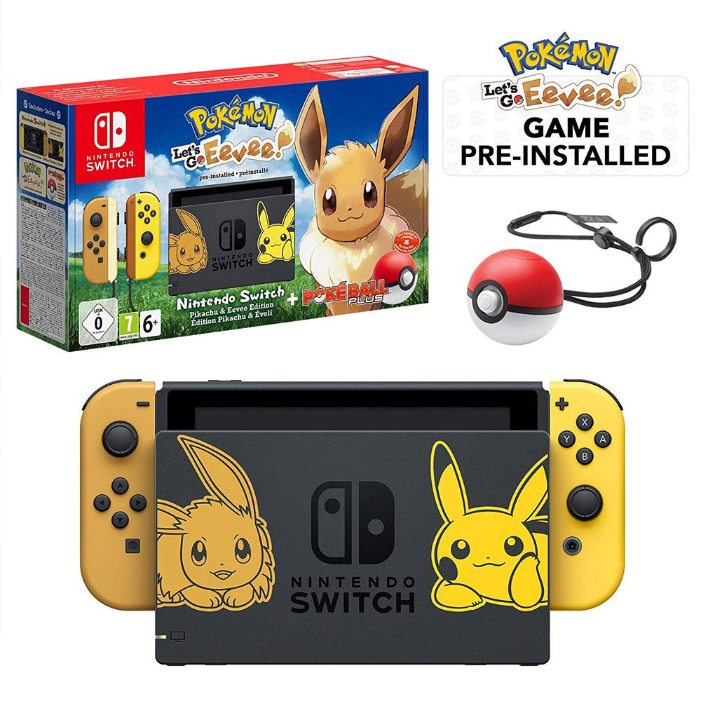 CONSOLE NINTENDO SWITCH 32GB BUNDLE POKEMON LETS GO EEVEE