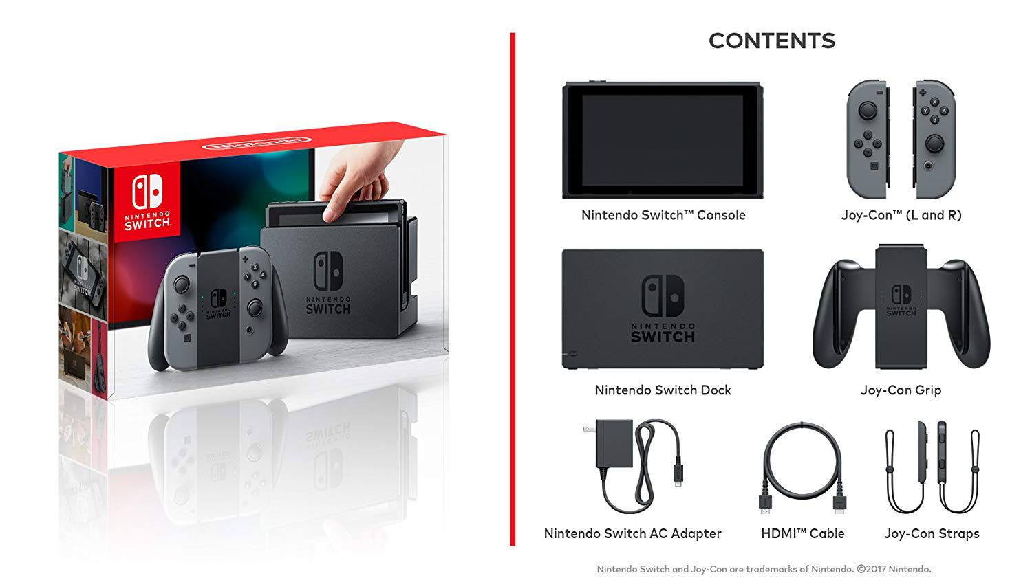 Console Nintendo Switch 32gb - Gray (Cinza)