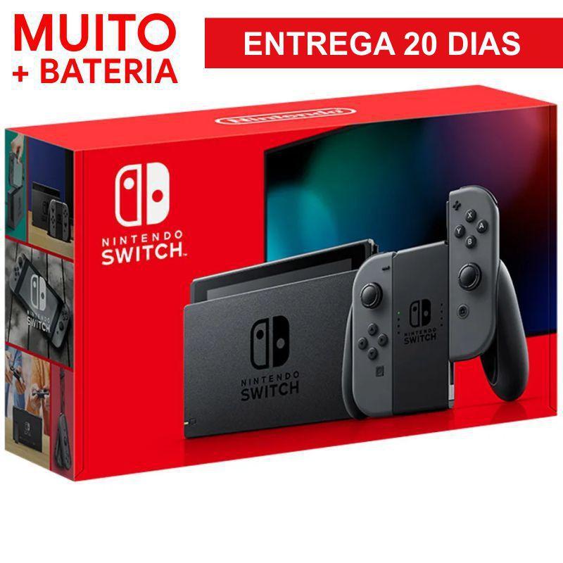 Console Nintendo Switch 32gb - Gray (Cinza) BATERIA ESTENDIDA - 20 DIAS