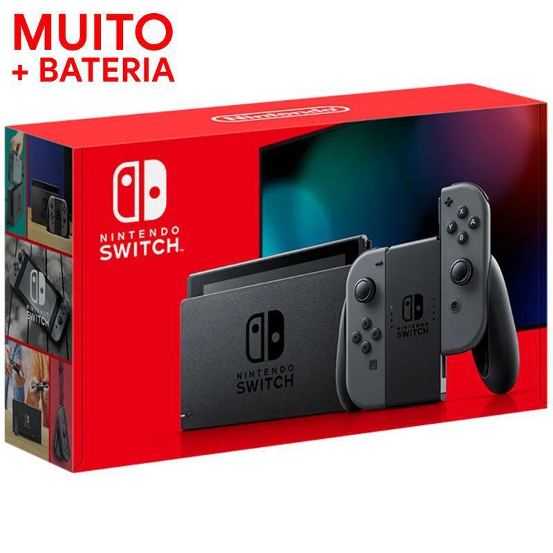 Console Nintendo Switch 32gb - Gray (Cinza) BATERIA ESTENDIDA