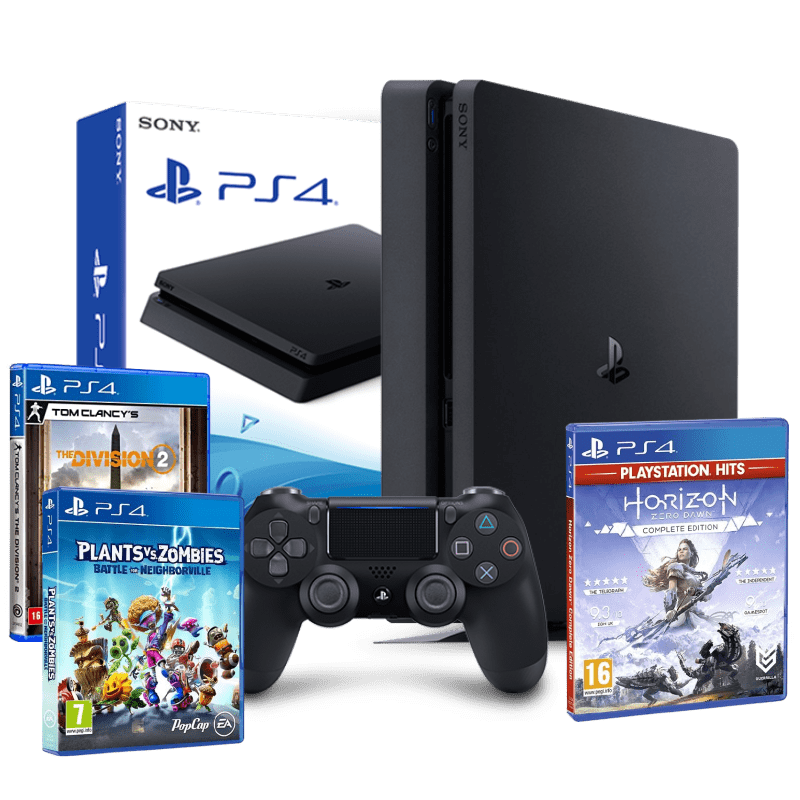 Console Playstation 4 500GB + 3 jogos Ps4 Video game Play 4 Super Slim