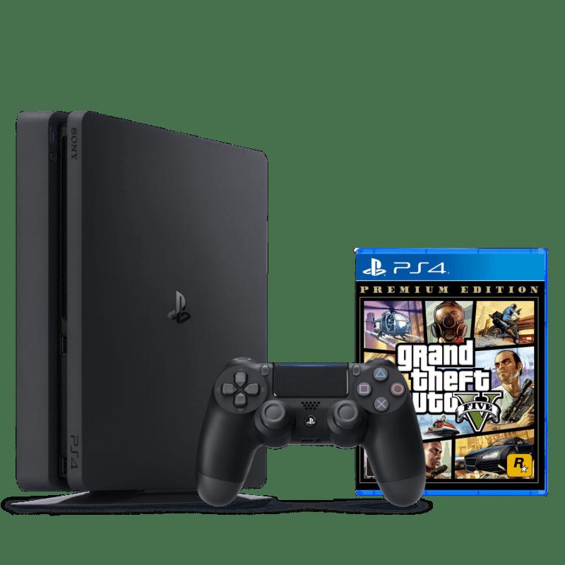 Console Playstation 4 500GB + Jogo Gta 5 v Ps4 Video game Play 4 Super Slim