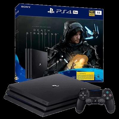 Console Playstation 4 Pro 1TB Death Stranding - Preto