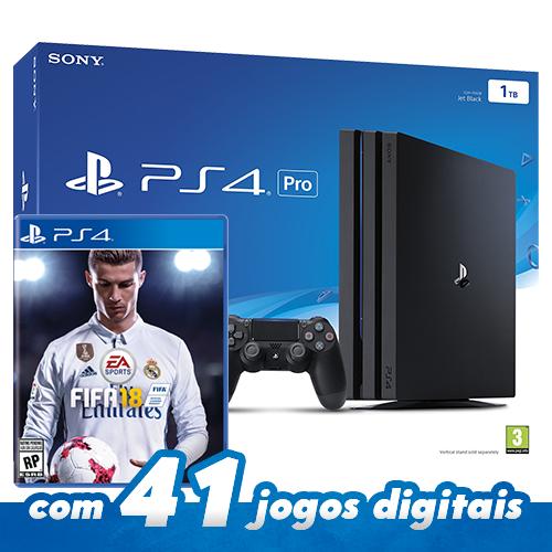 Console Playstation 4 Pro – Com Fifa 18 Americano