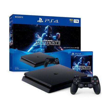 Console PlayStation 4 Slim 1TB + Jogo Star Wars Battlefront II