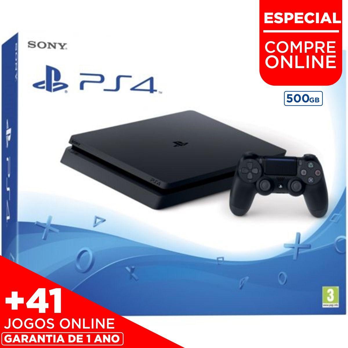 Console Playstation 4 Slim 500GB + 41 JOGOS DIGITAIS (PROMOÇÃO)