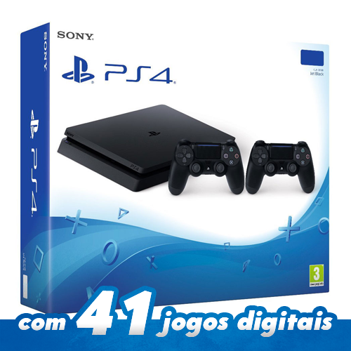 Console Playstation 4 Slim 500GB com 2 controles
