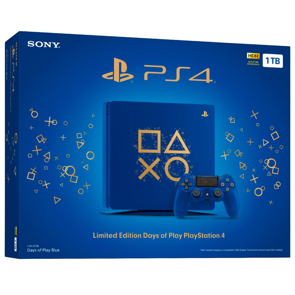 Console Sony Playstation 4 1tb Azul Days Of Play Edition