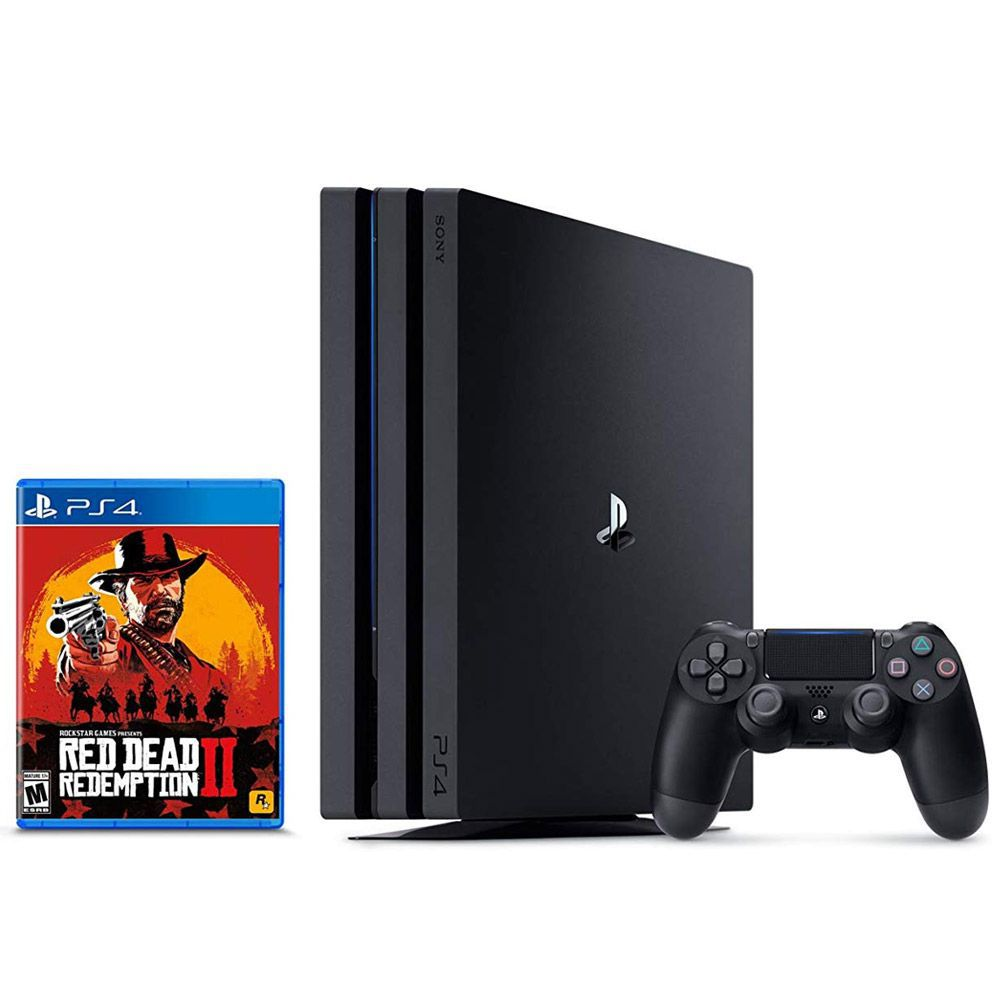 CONSOLE SONY PLAYSTATION 4 PRO 1TB BUNDLE RED DEAD REDEMPTION 2