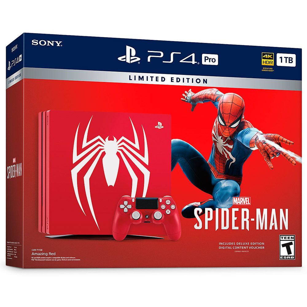 CONSOLE SONY PLAYSTATION 4 PRO 1TB SPIDER-MAN LIMITED EDITION