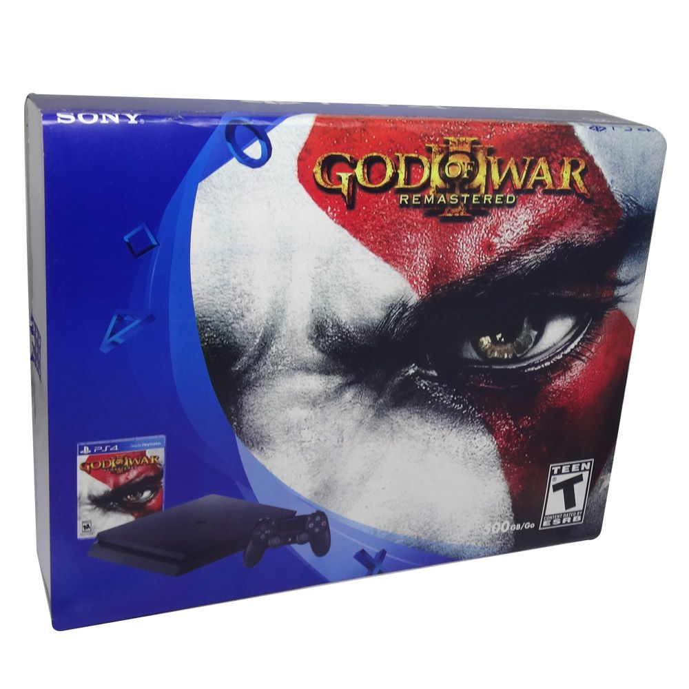 CONSOLE SONY PLAYSTATION 4 SLIM 500GB 2115A COM GOD OF WAR 3