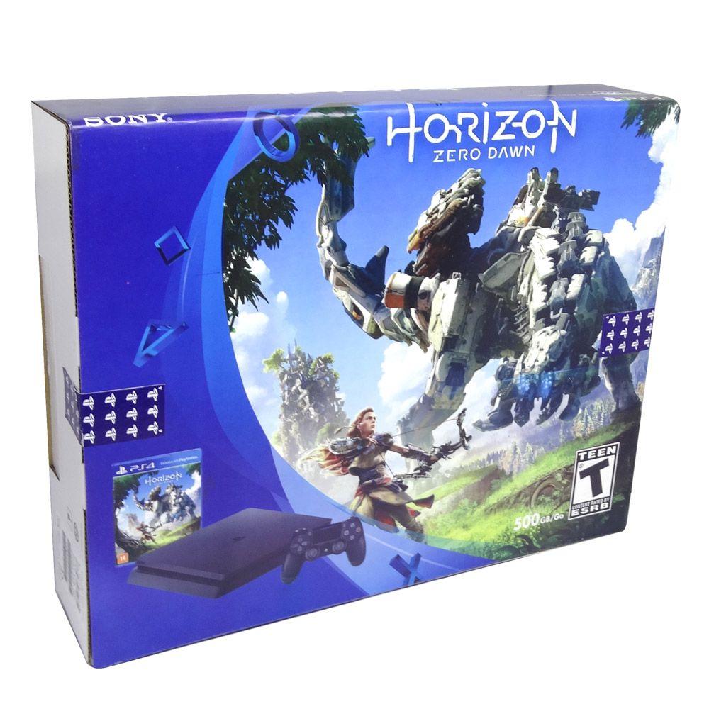 CONSOLE SONY PLAYSTATION 4 SLIM 500GB 2115A COM HORIZON ZERO DAWN