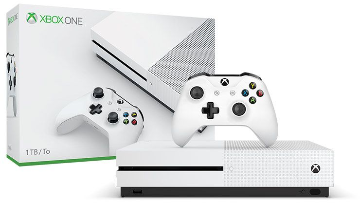 Console Xbox One S 1TB Branco + 3 Jogos ( Halo Wars 2, TitanFall 2 e Gears of War 4)