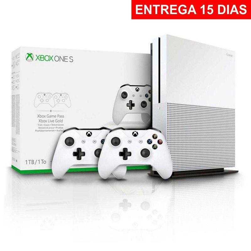 Console Xbox One S 1tb Branco Com 2 Controles (Entrega 15 dias)