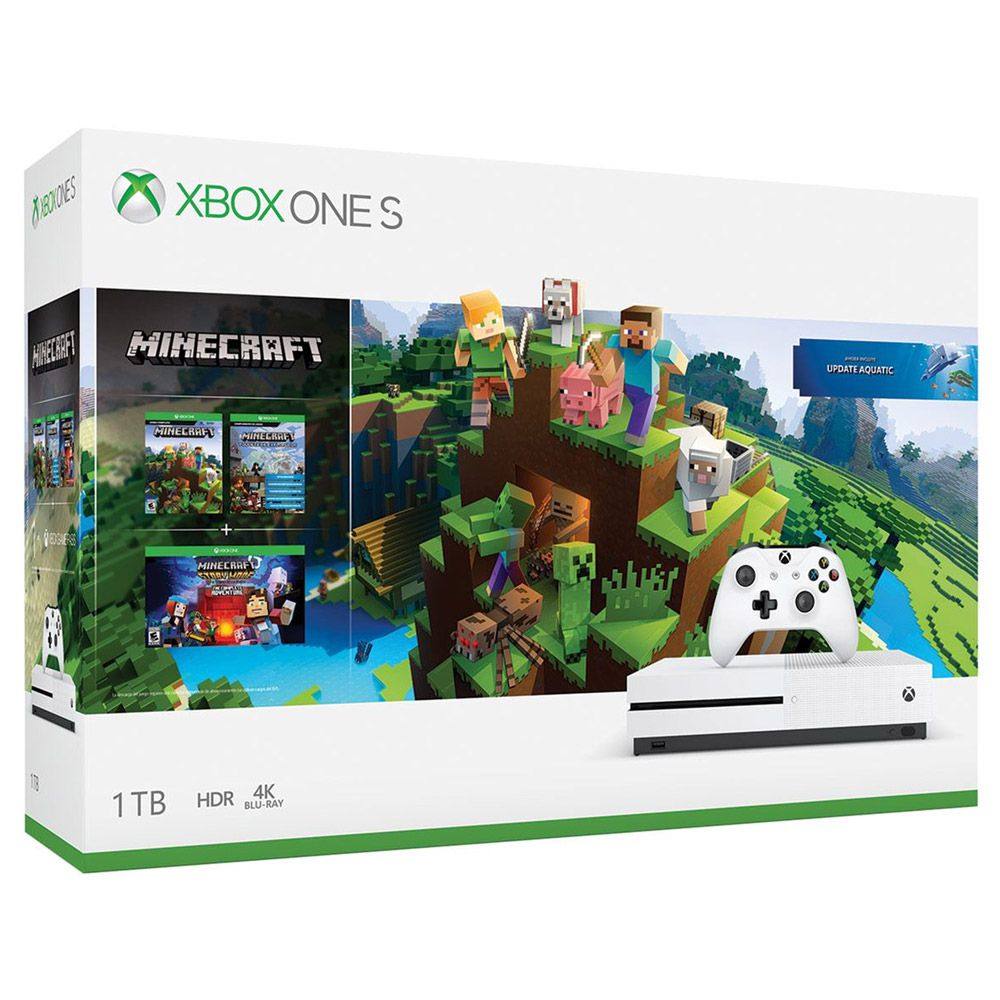 CONSOLE XBOX ONE S 1TB BUNDLE MINECRAFT
