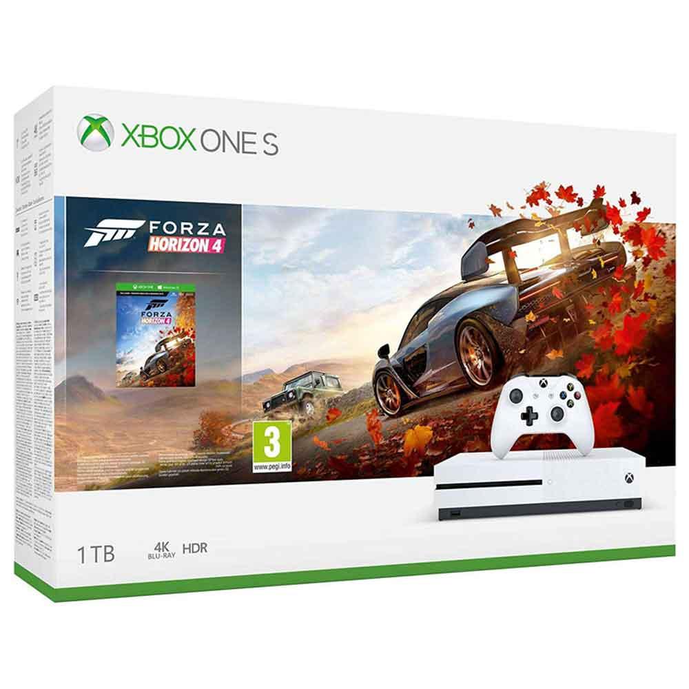 CONSOLE XBOX ONE S 1TB COM JOGO FORZA HORIZON 4 - BRANCO