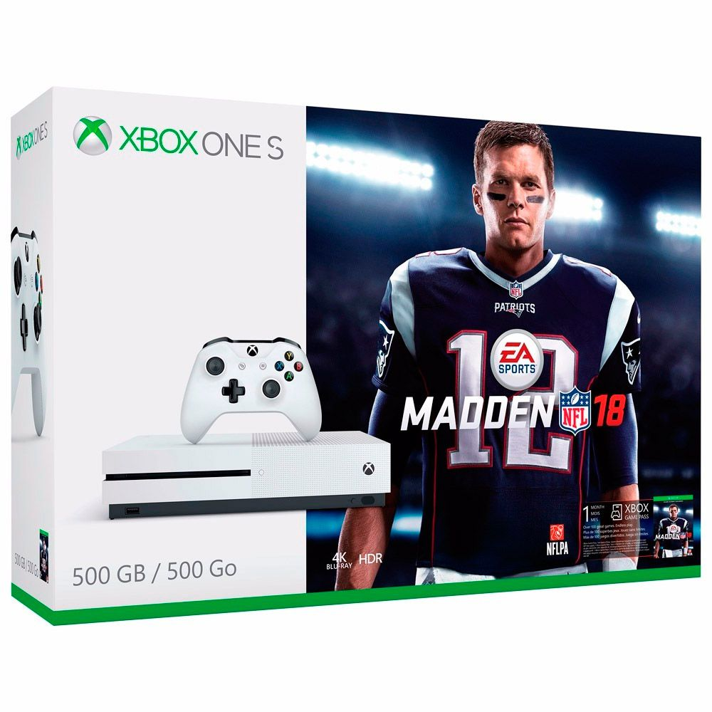 CONSOLE XBOX ONE S 500GB BUNDLE MADDEN NFL18