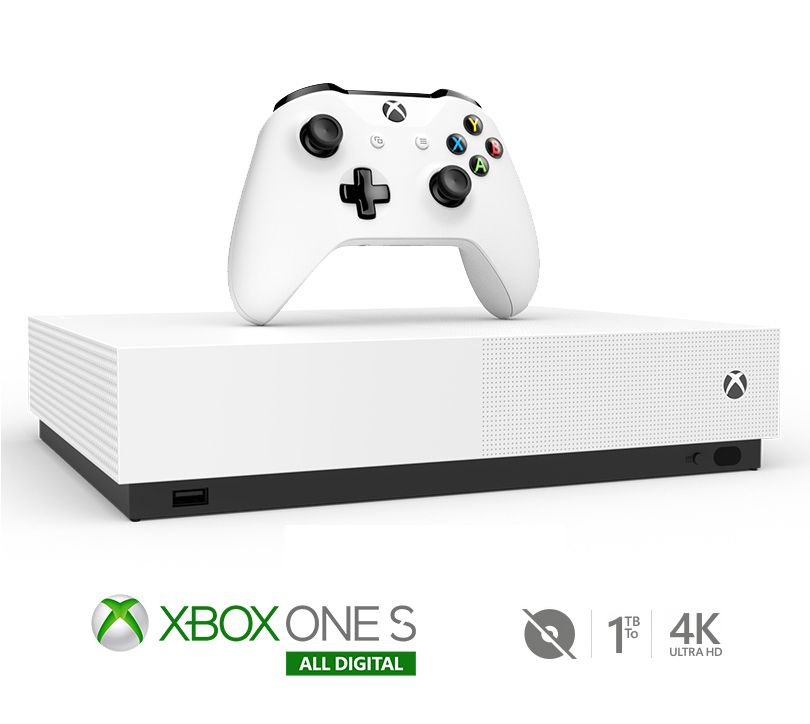 Console xbox one s all digital 1tb - branco