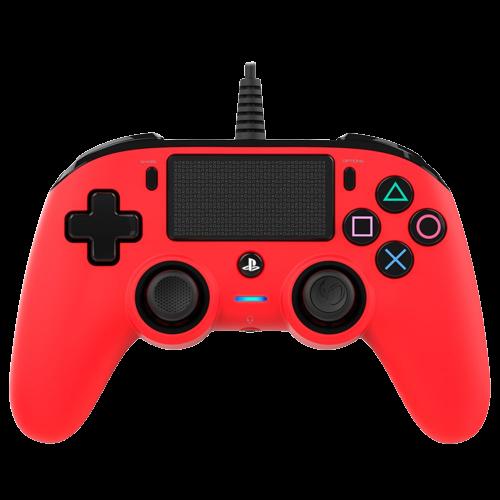 Controle Compacto Nacon Com Fio Para PS4 - Vermelho