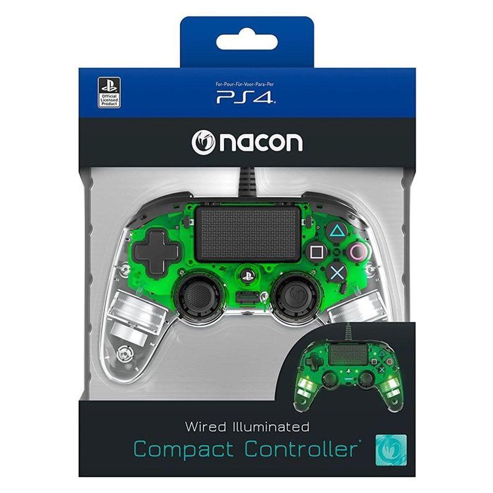 CONTROLE COMPACTO PRO NACON ILUMINADO VERDE PARA PLAYSTATION 4