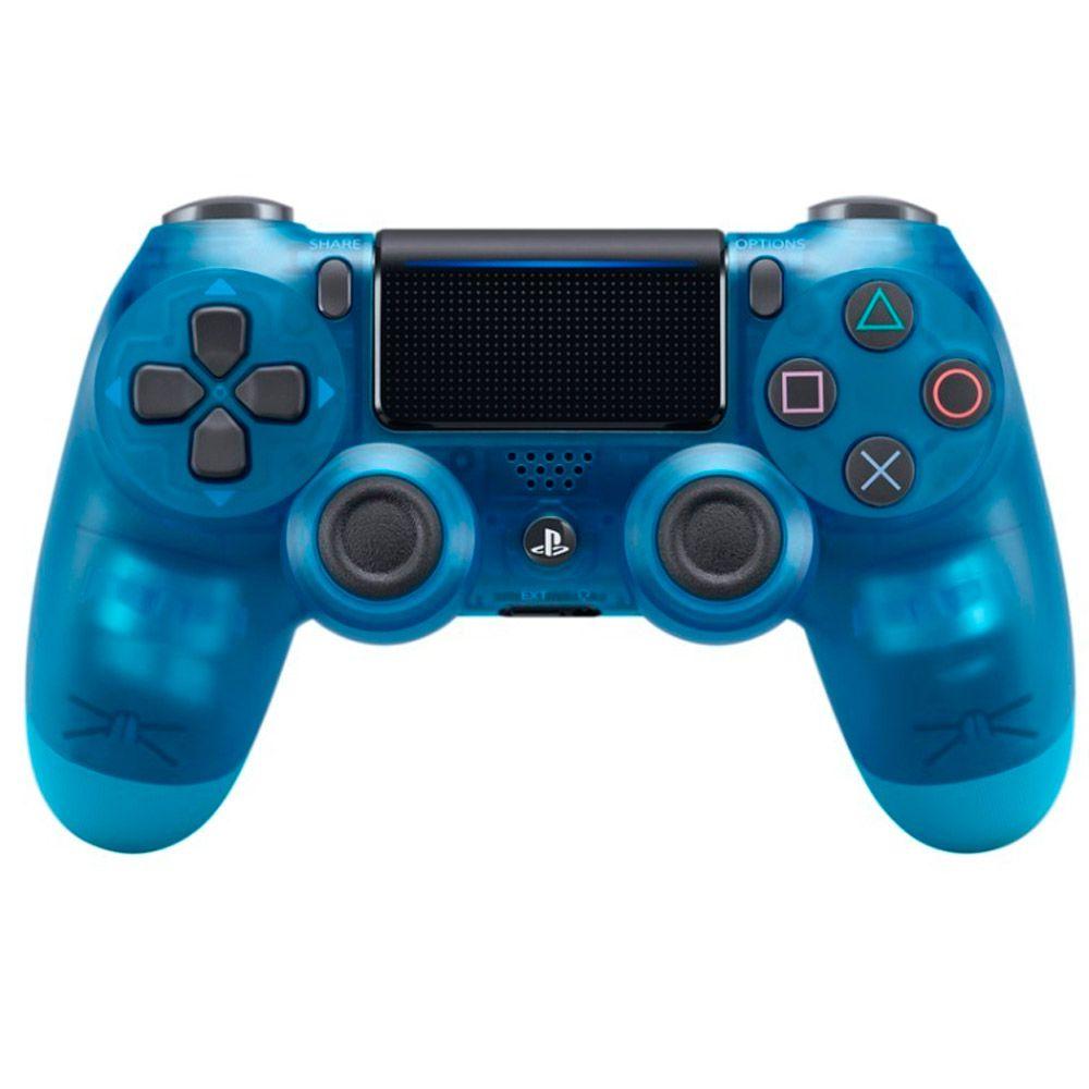 CONTROLE DUALSHOCK 4 CRYSTAL BLUE JAPONES PS4