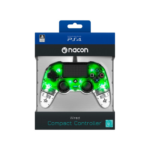 Controle Nacon Wired Compact Controller para PS4 - Clear Illuminate