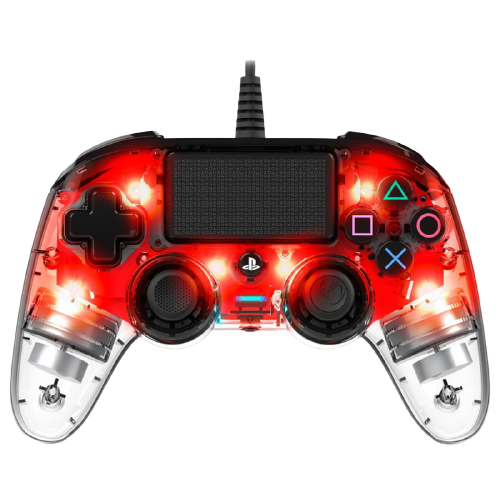 Controle Nacon Wired Compact Controller para PS4 - Clear Illuminatee