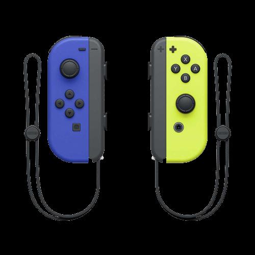 Controle Para Nintendo Switch Joy-Con - Azul/Amarelo
