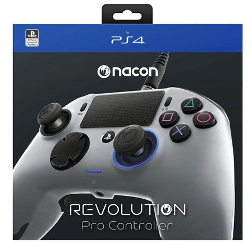 CONTROLE PRO NACON CINZA E PRATA PARA PLAYSTATION 4