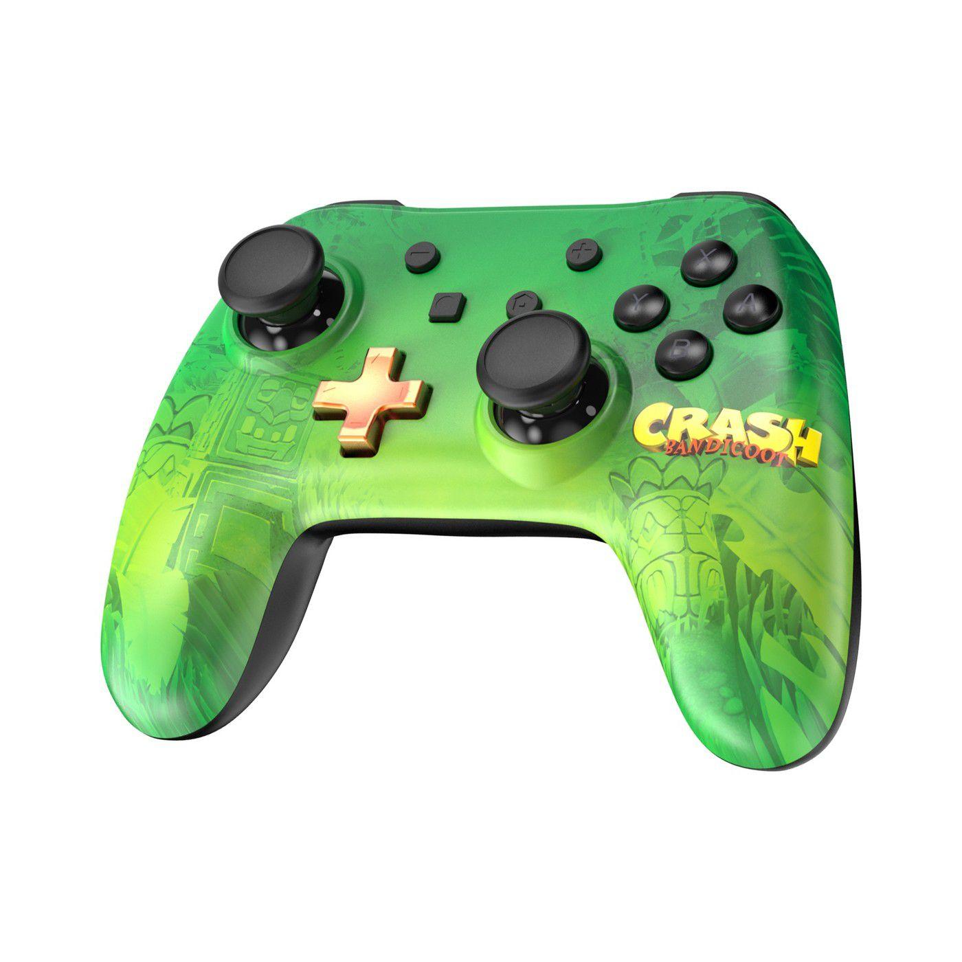 Controle pro para nintendo Switch com jogo Crash Bandicoot n'sane trigoly