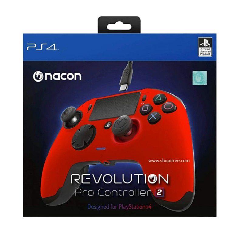 Controle Revolution Pro 2 Nacon v2 para Playstation 4 - Vermelho