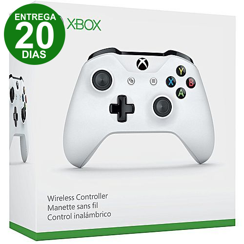 Controle Xbox One Sem Fio Branco (Entrega 20 Dias)