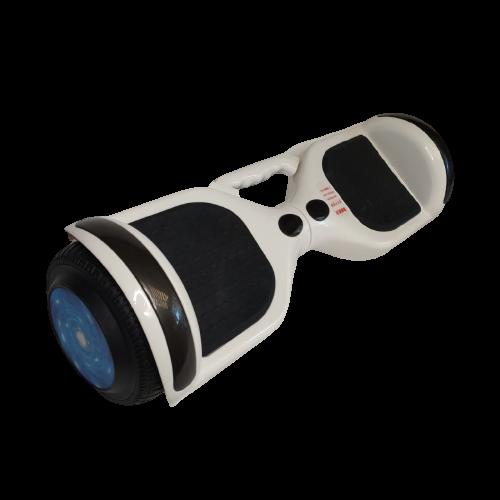 Skate Elétrico Hoverboard 6.5' Branco Bluetooth e LED - Bateria Samsung - Smart Balance