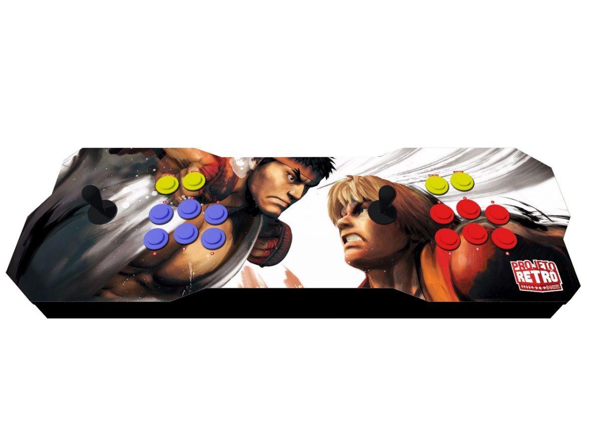 Fliperama Duplo Portátil 64GB Estampa Street Fighter