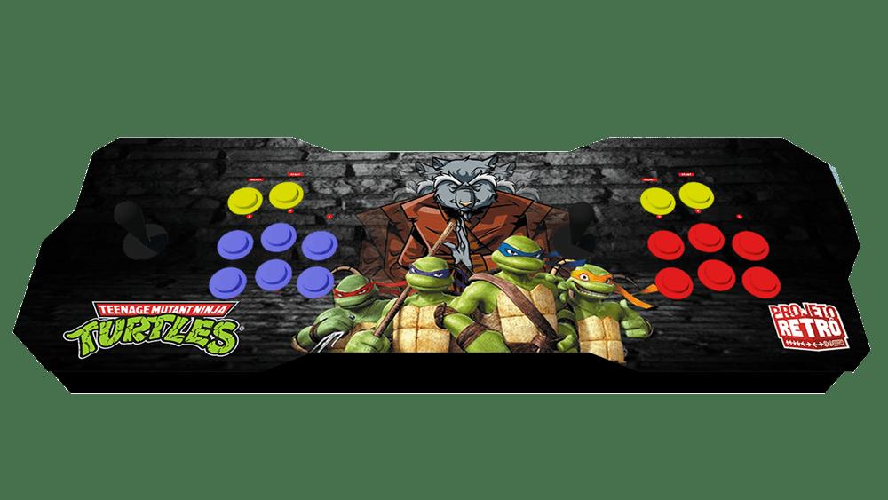 Fliperama Duplo Portátil 64GB Estampa Tartarugas Ninjas