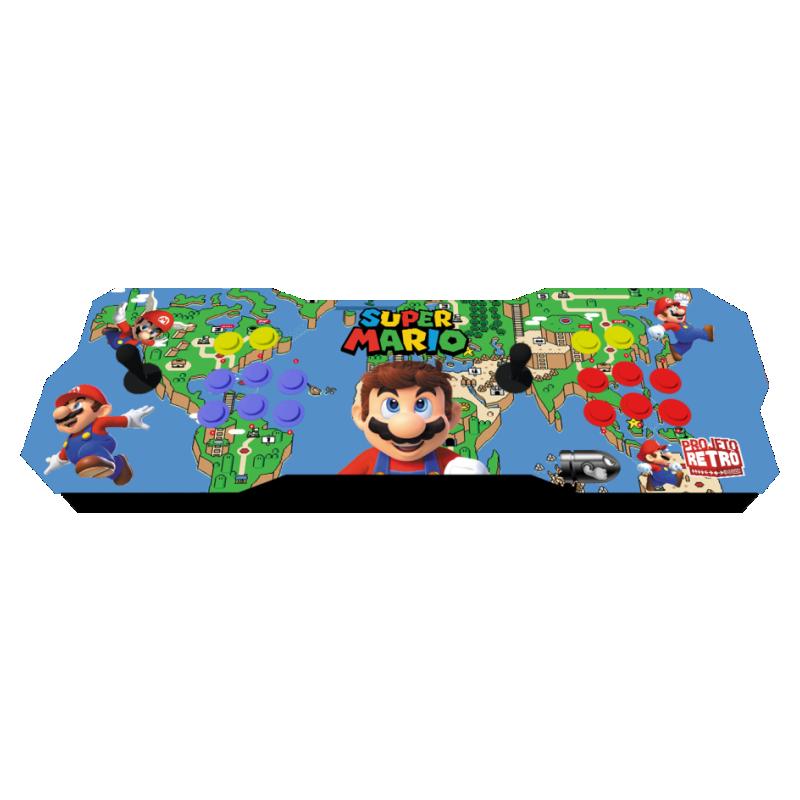 Fliperama portátil duplo com 30 plataformas e mais de 10 Mil jogos