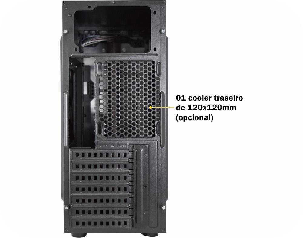 GABINETE GAMING PRETO LED AZUL CG-04R8 MATRIX K-MEX