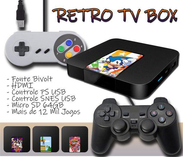 Game Retrô TV BOX 12 Mil Jogos
