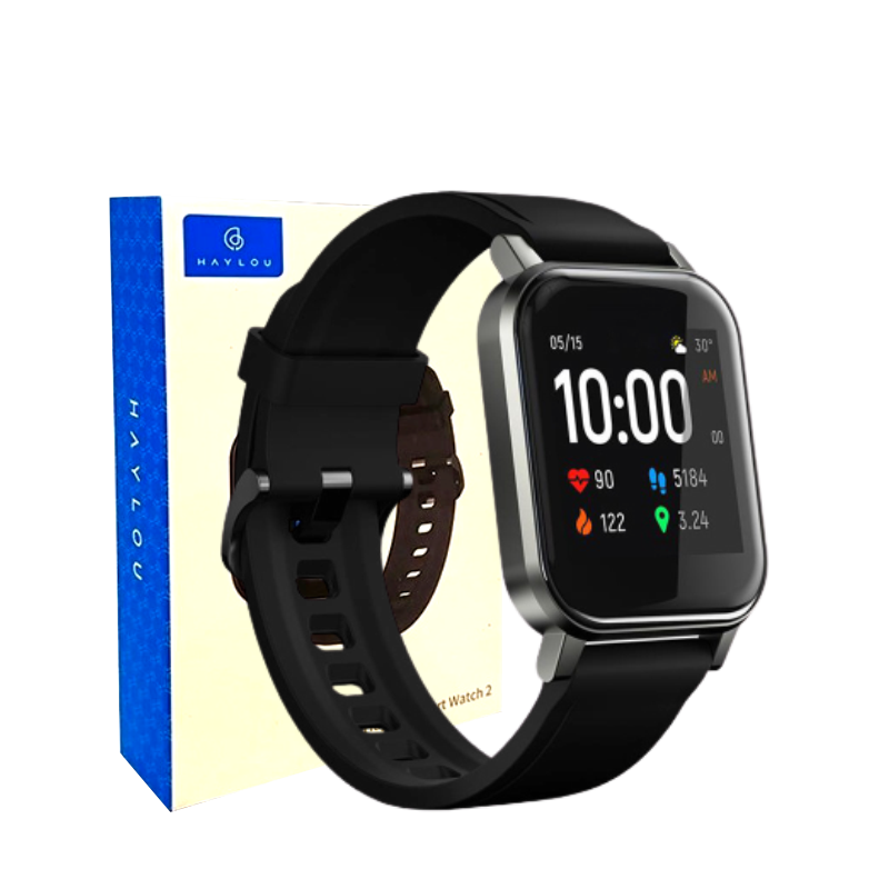 Haylou Smartwatch 2 Ls02 Preto Global Relógio Inteligente Bluetooth 5.0 IP68 Tela 1.4