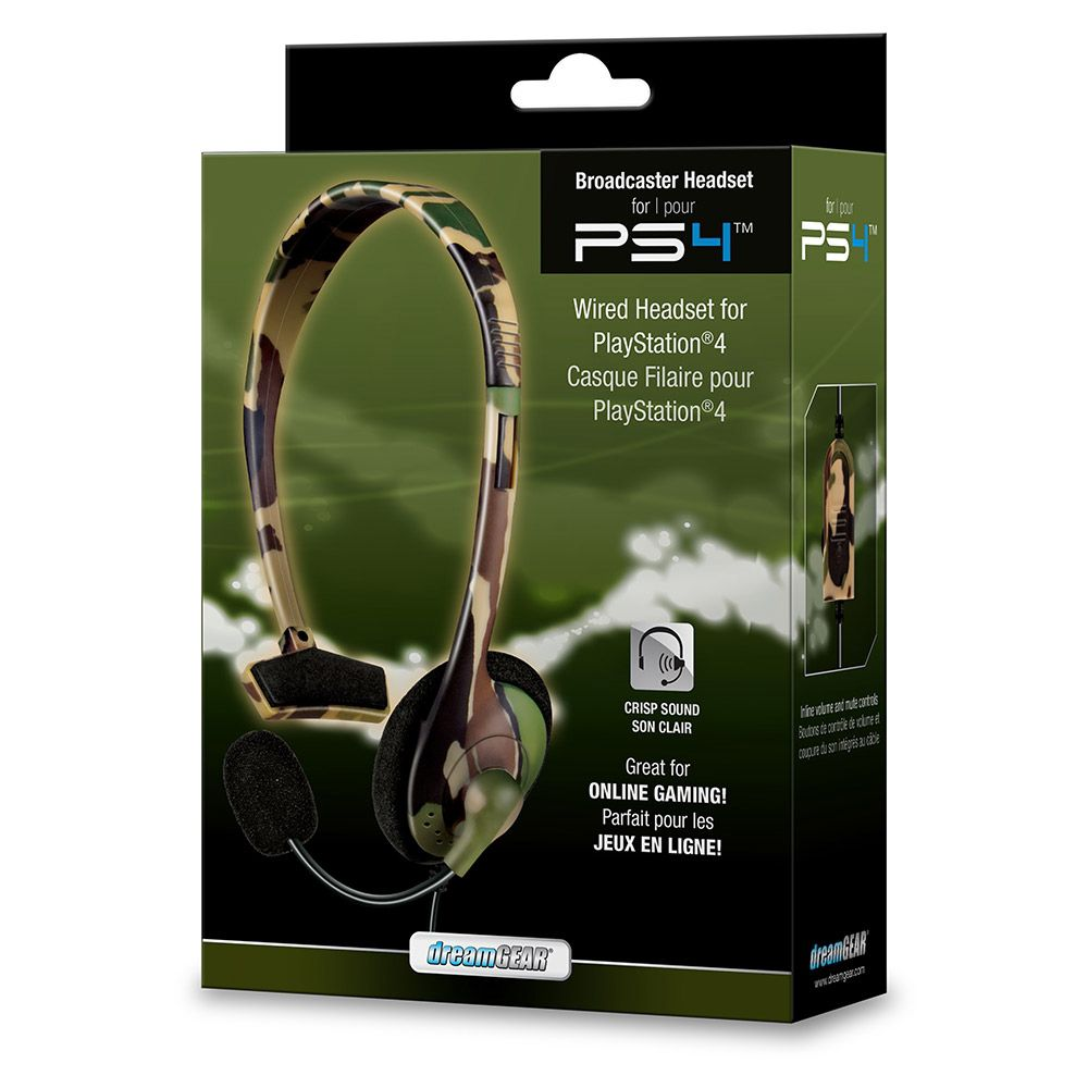 HEADSET BROADCASTER CAMUFLADO DREAMGEAR PS4