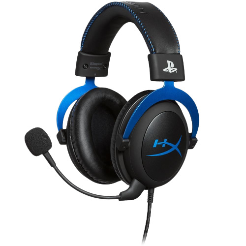 Headset Gamer HyperX Cloud, Drivers 53mm, PS5 e PS4, P3, Preto e Azul