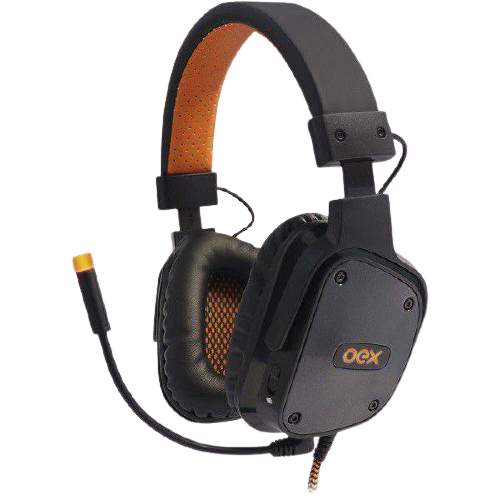 Headset Gamer Oex Game 7.1 Preto Shield - HS409